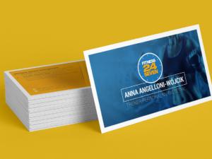 Projekt wizytówki dla firmy Fitness24Seven