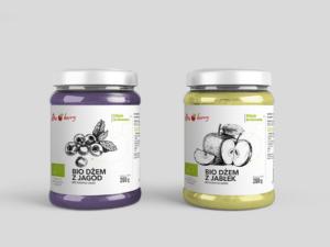 Projekt etykiet dla firmy BioBerry