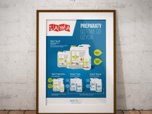 Projekt plakatu dla firmy Sawa