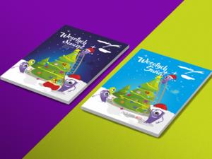 Projekt kartki świątecznej dla firmy Nette