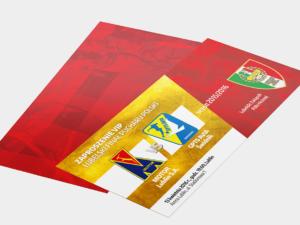 Projekt zaproszenia vip dla Lubelskiego Związku Piłki Nożnej