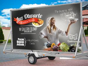 Projekt lawety reklamowej dla firmy Gastromax