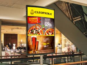 Projekt baneru dla restauracji Cleopatra